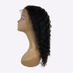 deep wave lace front natural colored wig