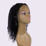 kinky curly lace front natural colored wig