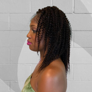 kinky curly natural colored wig