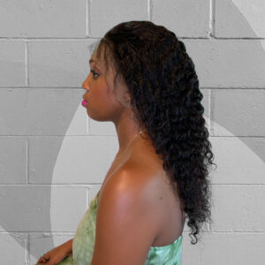 deep wave natural colored wig